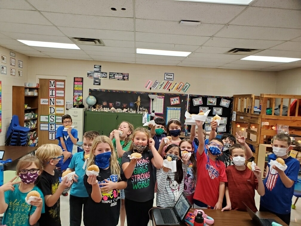 Congratulations to Mrs. Atwell's class for winning the donut party and doing an excellent job with Food for Families!