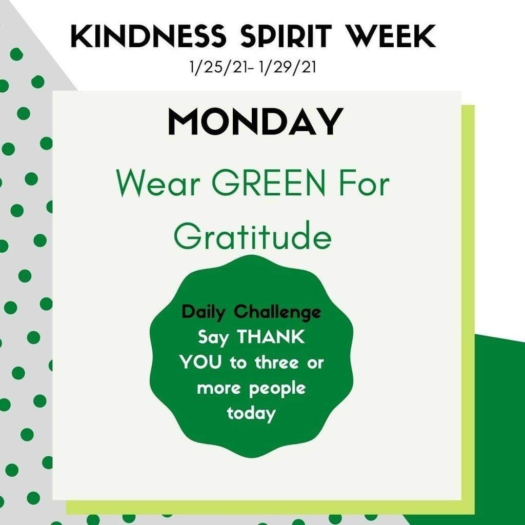Show your GRATITUDE by wearing GREEN 💚
