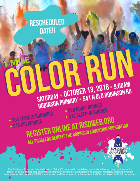Color Run flier