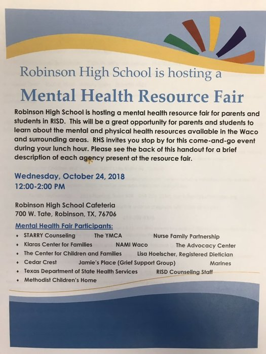 Mental Health Fair 2018