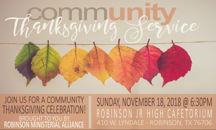 Robinson Community Thanksgiving Service 11-18-19