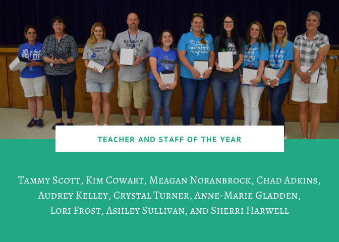 Campus staff/teacher of the year