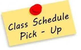 Class Schedule Pick-Up
