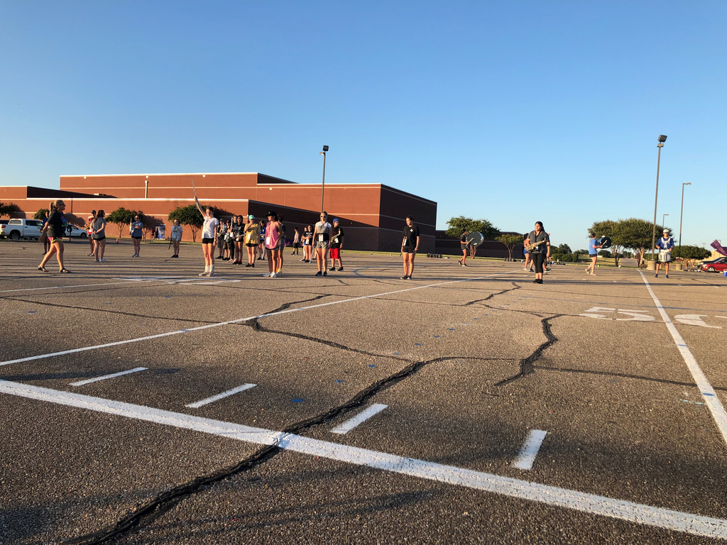 Learning those marching spots!