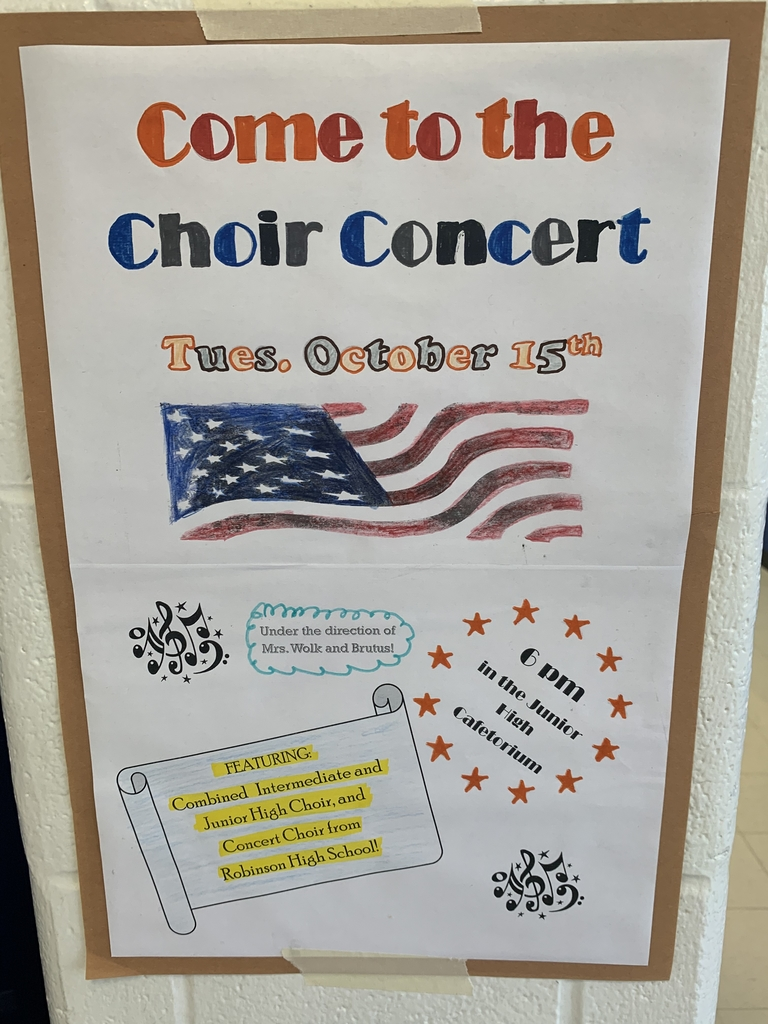 Please come see how hard our kids have been working under the direction of our new choir director, Mrs. Wolk!