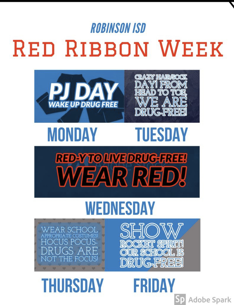 Red Ribbon Week theme days!