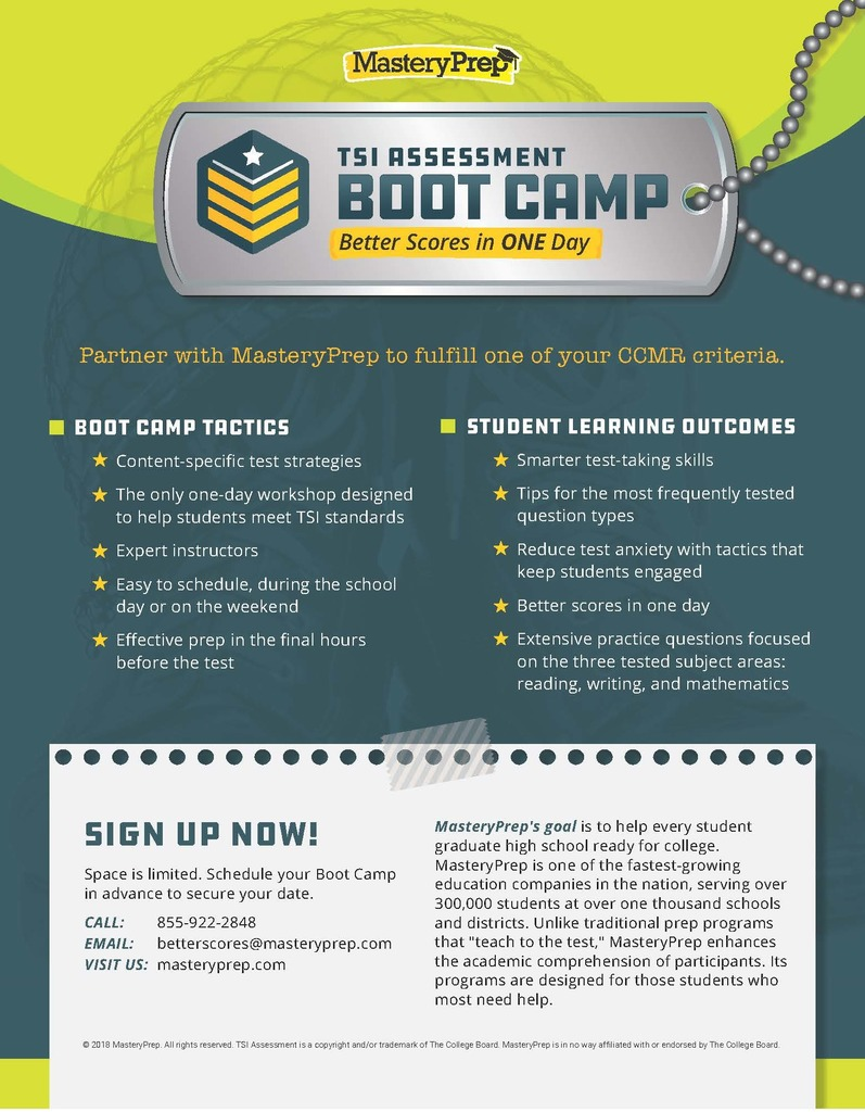 TSI Boot Camp Flyer