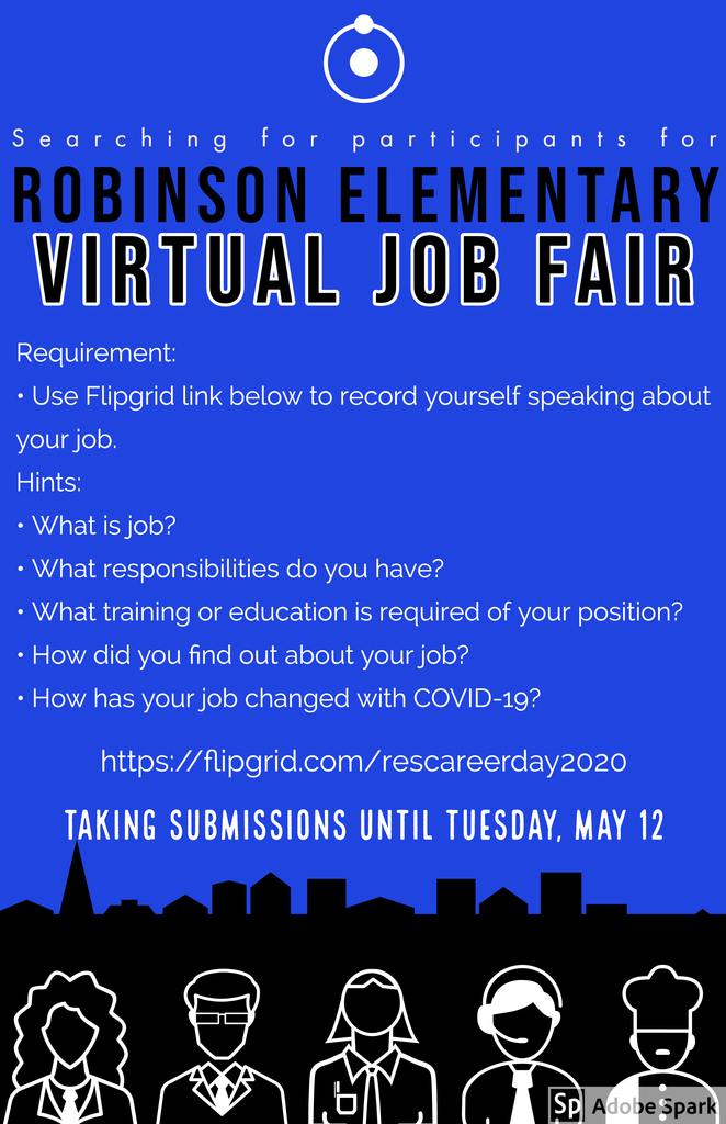 Parents, please help us with our Virtual Career Day!